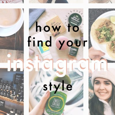 Finding Your Instagram Style