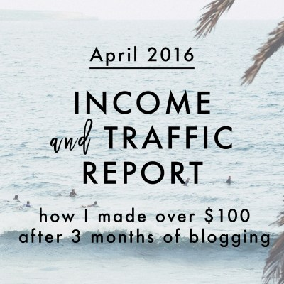 April 2016 Income + Traffic Report