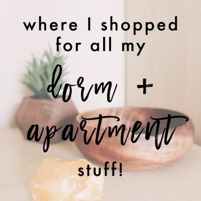 Where I Shopped For All My Dorm + Apartment Stuff