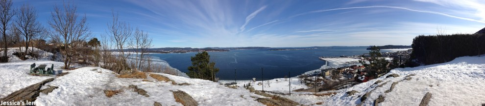 Taking a panorama picture of Holmestrand