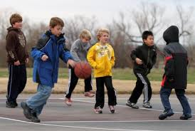 ball game of boys to depict bullying