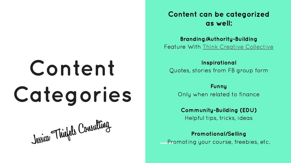 social media coaching_content categories_