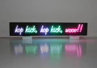 Hop Kick, Jane Fonda, neon (2002) copy