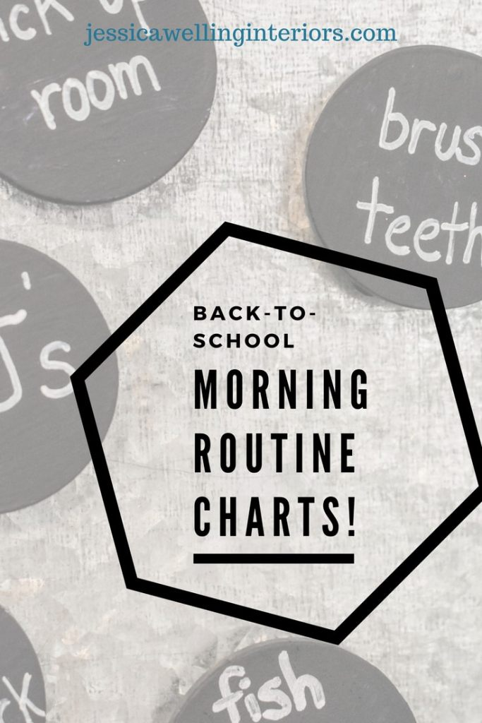 photo of back to school morning routine chart