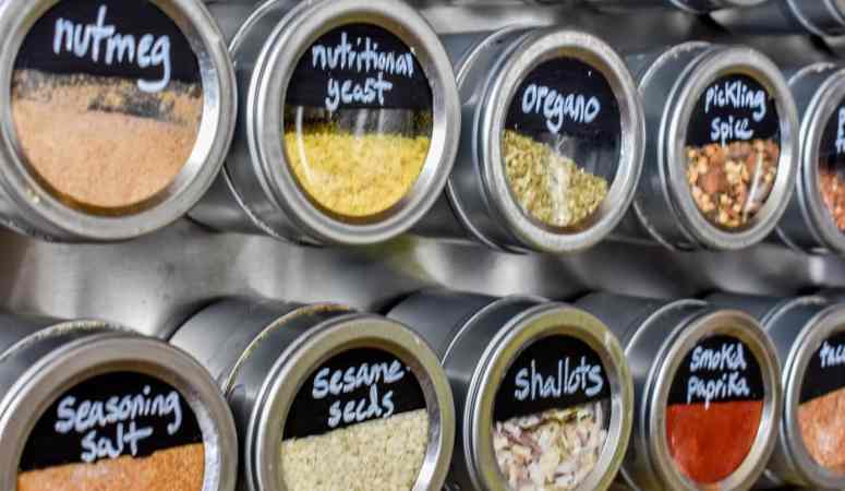 Easy DIY Giant Magnetic Spice Rack