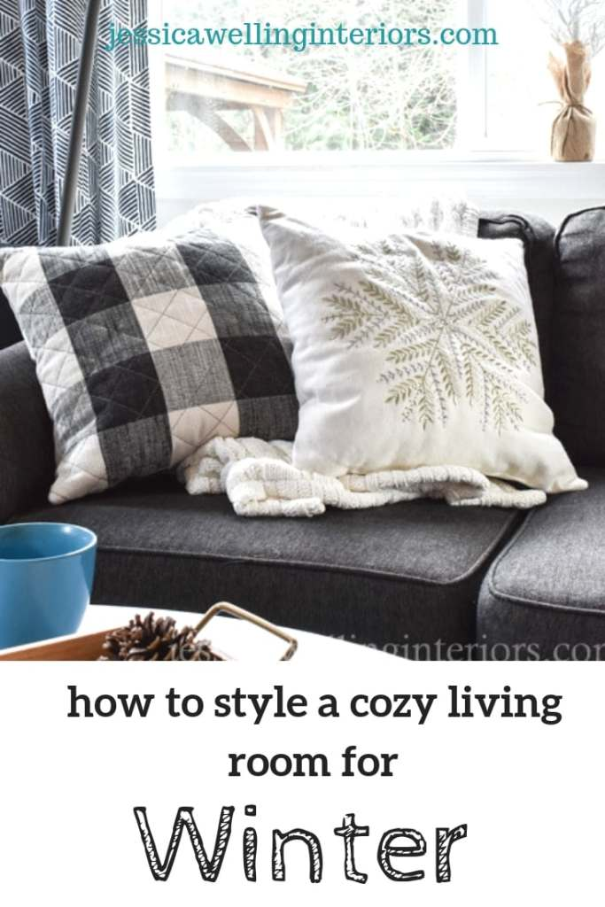 Take your living room decor from Christmas to cozy for Winter with these simple Winter decorating ideas! It's all about throw pillows, throw pillow covers, and throw blankets.