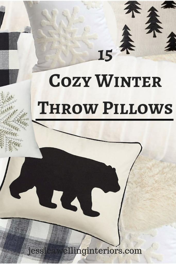 Transition from Christmas to Winter with these inexpensive but cozy Winter throw pillows and throw pillow covers. They will bring texture and warmth to your sofa or bed during the cold months!