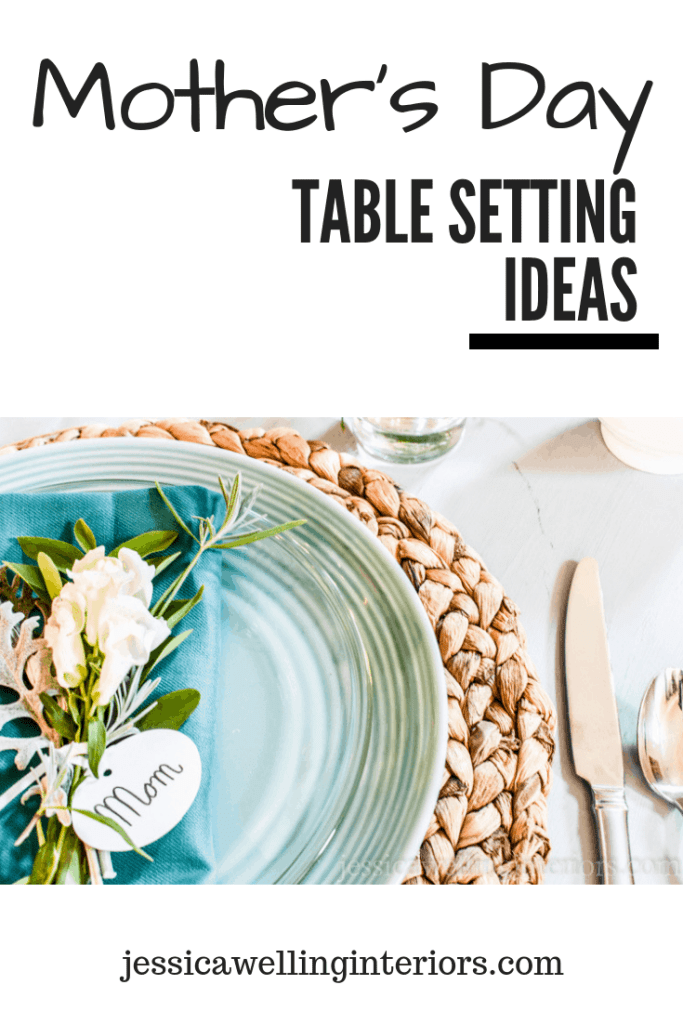 Set a beautiful simple DIY table for Mother's Day brunch! These fun mini floral arrangements and place cards will complete the look and make Mom feel special!