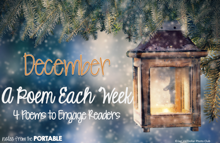 December A Poem Each Week. 4 Poems to Celebrate December. FREE questions and activities