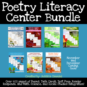 Poetry Literacy Center Bundle