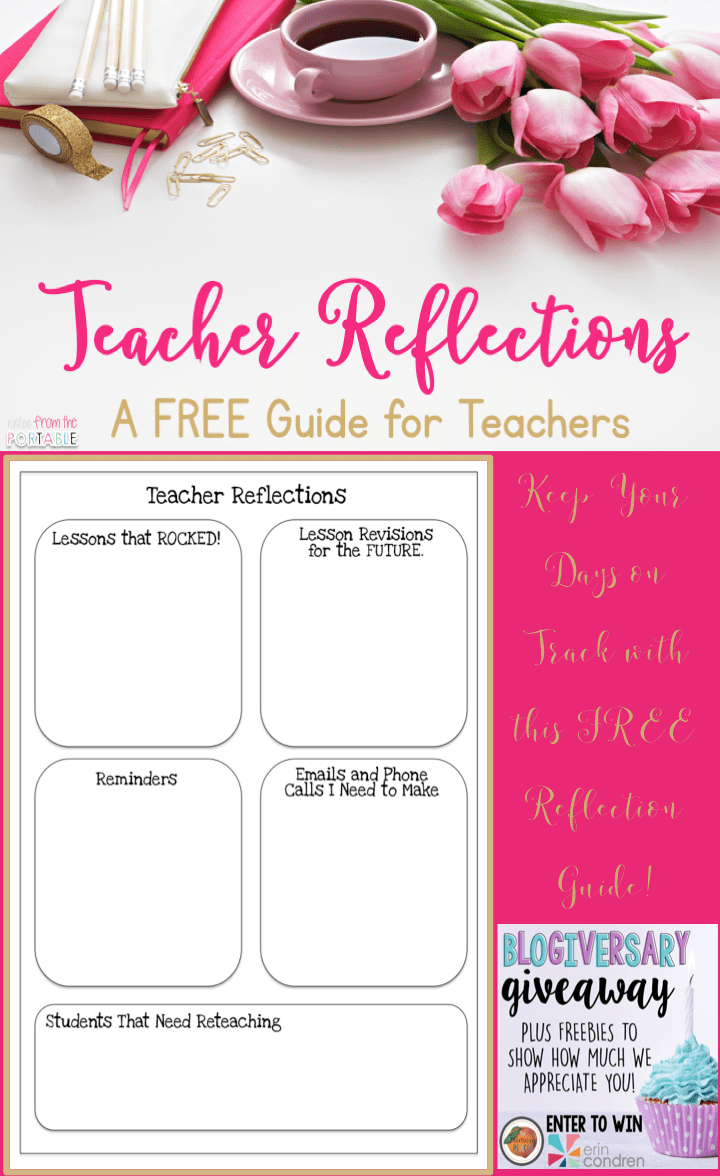 Use teacher reflections to increase teacher sanity.