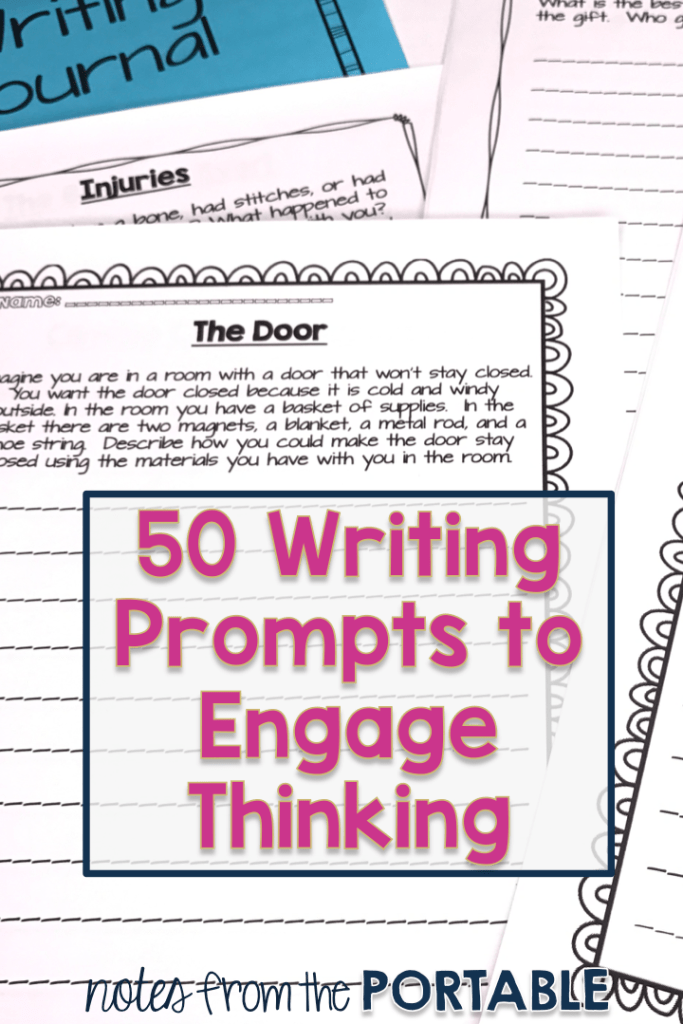 50 writing prompts to engage thinking.