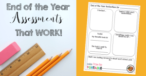 end of the year classroom assessments