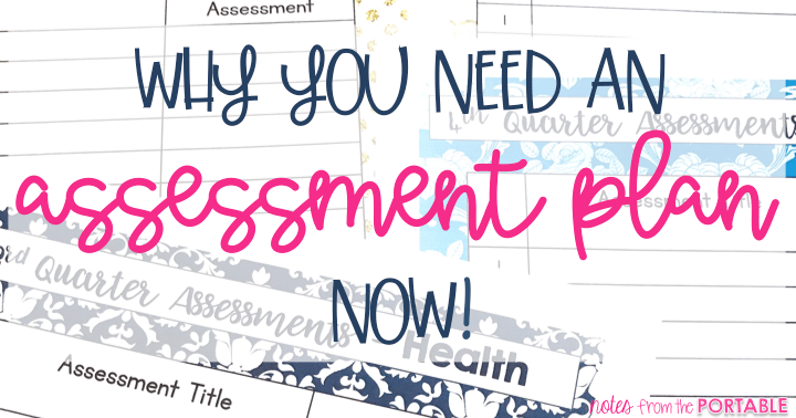 Love this simple assessment plan. Keep me on track with assessing students all year long!