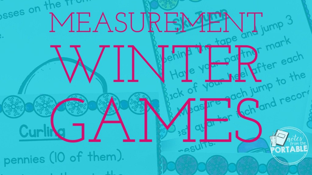 Celebrate the winter games with these 12 measurement centers. A great review before testing and tons of fun!