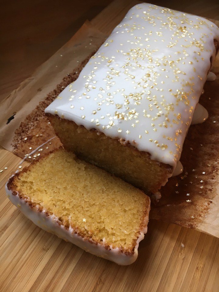 Lemon drizzle and almond loaf cake