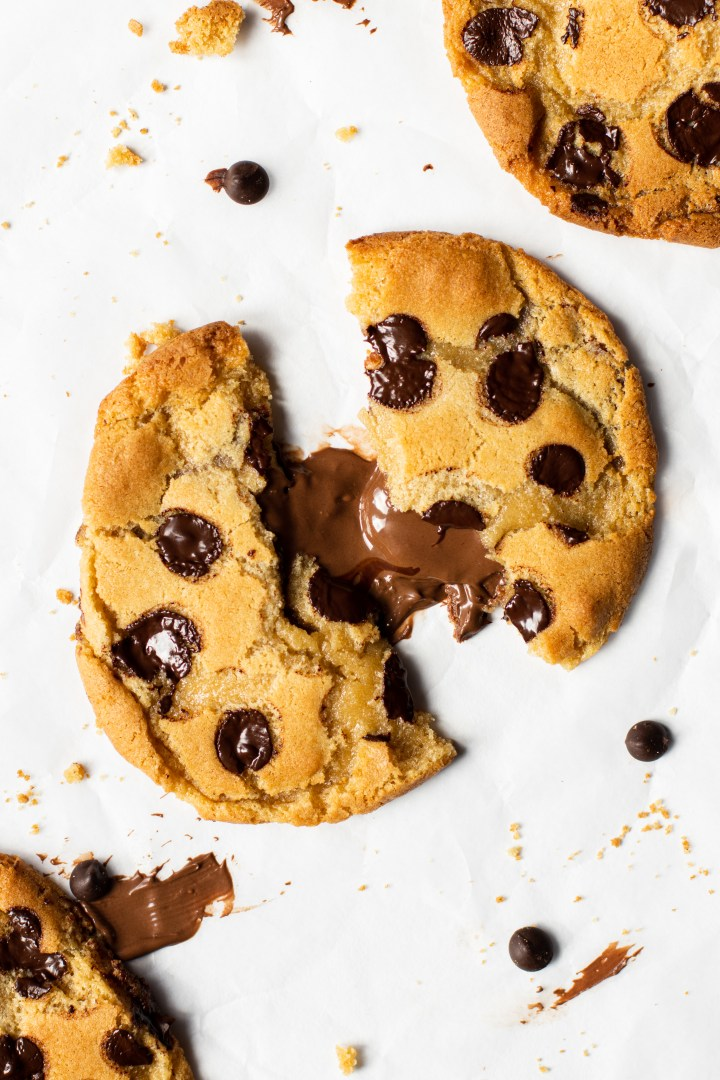 Chocolate chip nutella stuffed cookies