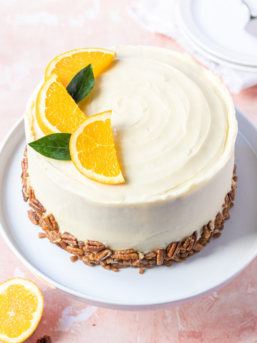 Orange Pecan Layer Cake