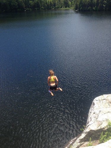 Finally! A chance to cool off after a long ski/run combo (photo by Ian Torchilla)