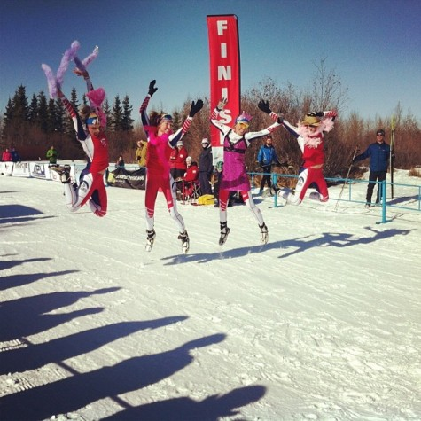Jumping for joy (and Sophie's Birthday) at Spring Series