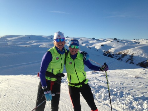 Sophie and I loving the skiing down under! (photo from Liz)