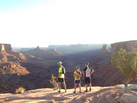 Matt, Liz and Peter overlooking the cliffs.