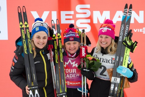 Podium girls in Gatineau! (photo by Reese Brown)