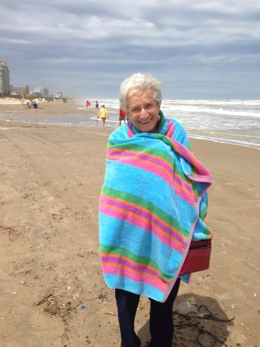 Nana all bundled up to stay warm!