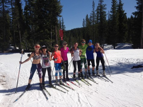 Local high school skiers took a day to come ski with us! It was really fun having them follow us on the trails.