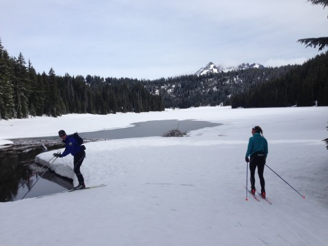 Todd lake. Not totally frozen, but solid enough.