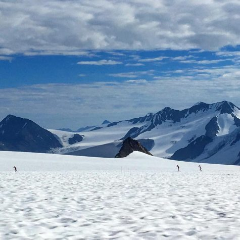 Skiing with a view! (photo by Zuzana Rogers)