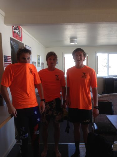 Things 1, 2 and 3 (Reese, David and Scott) ready for training!