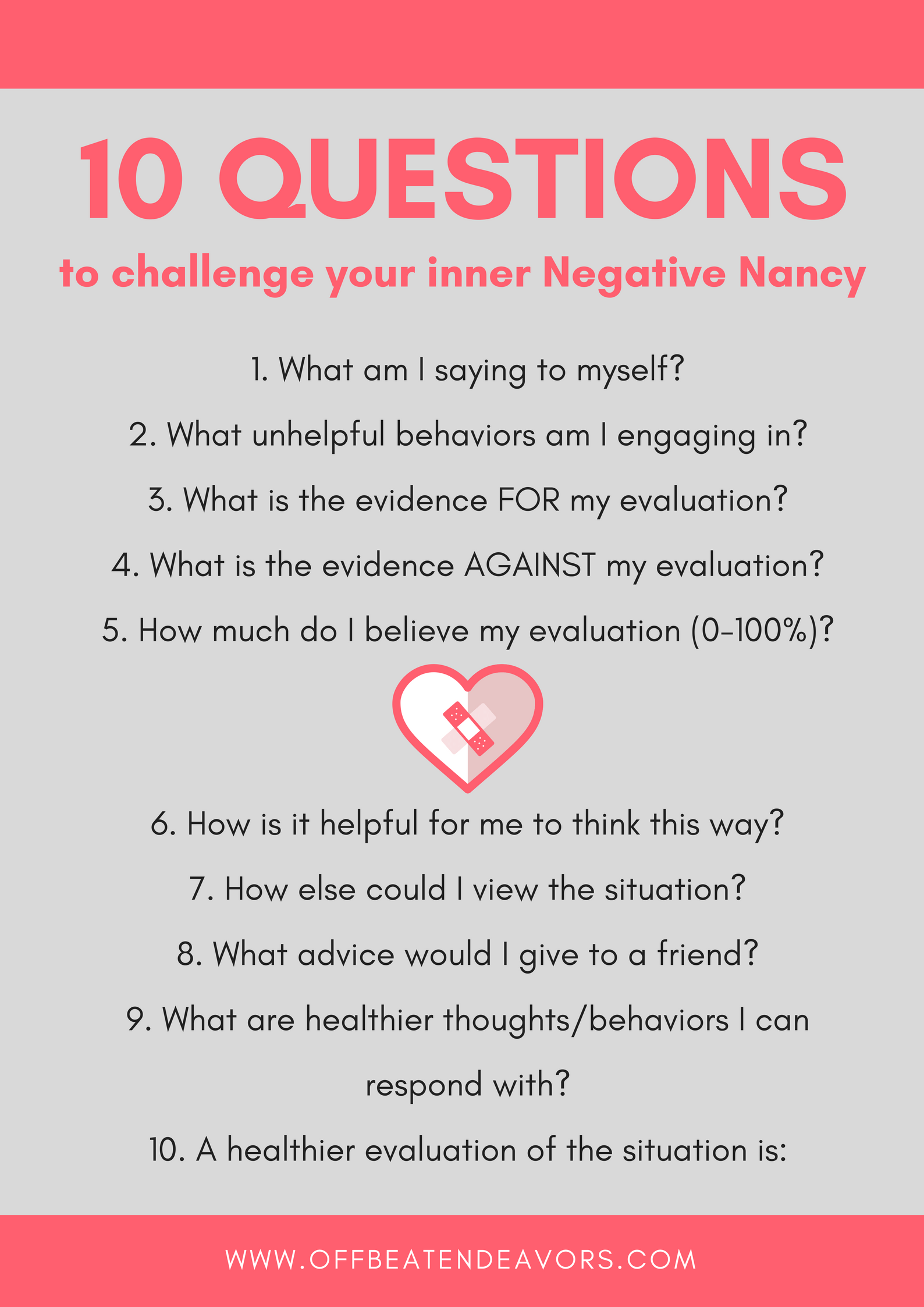 Redirecting Negative Thinking 10 Questions To Challenge