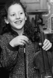 Jessie, aged 8, with violin