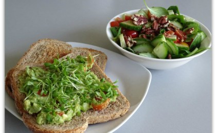 "avocadospread met snelle salade e2809con the sidee2809d - Avocadospread met snelle salade ""on the side"""