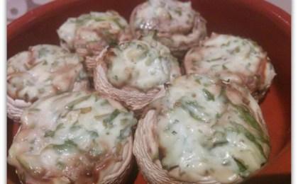 gevulde champignons uit de oven - Gevulde champignons uit de oven