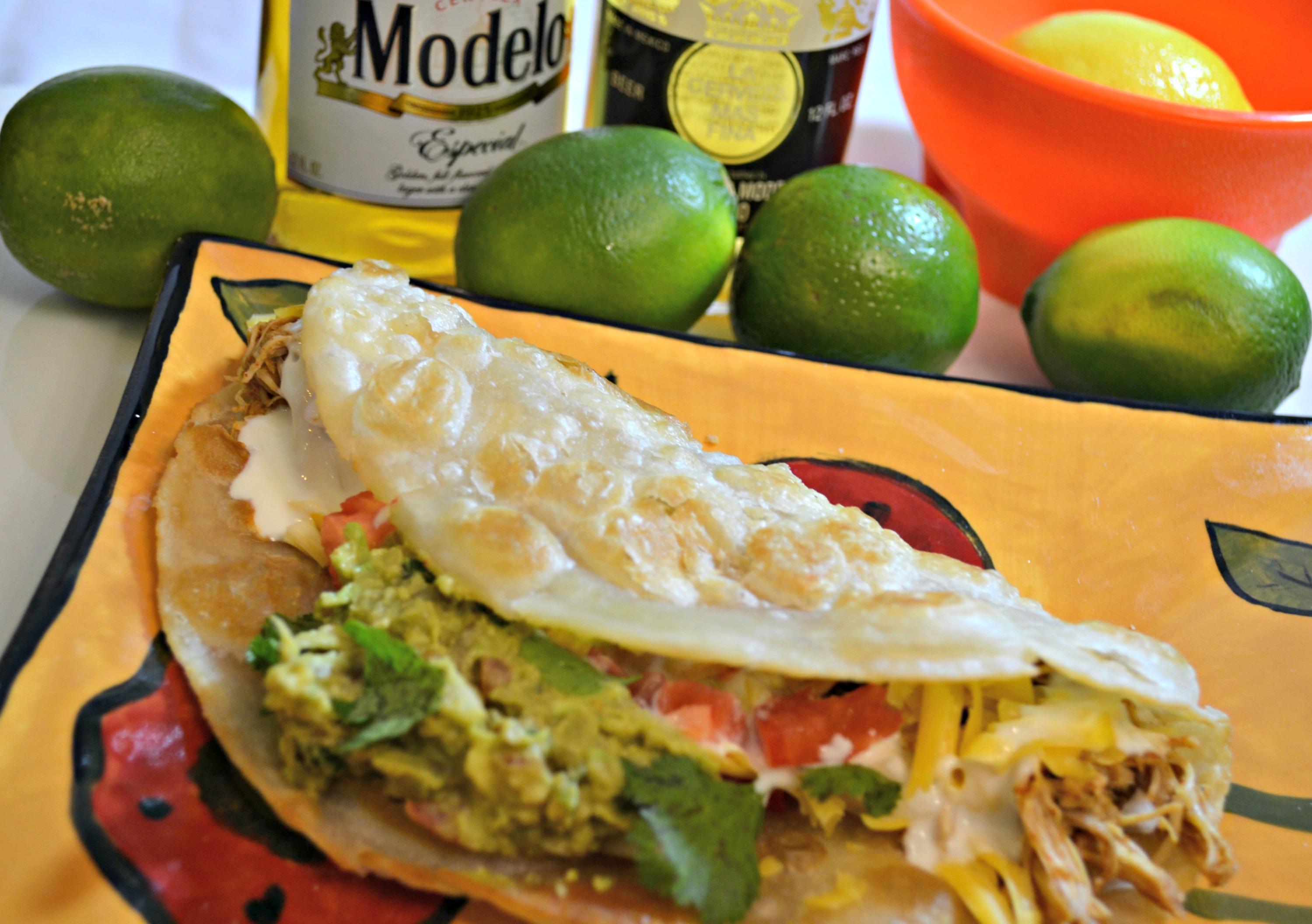 Chicken Tacos On White Corona Rita Recipe