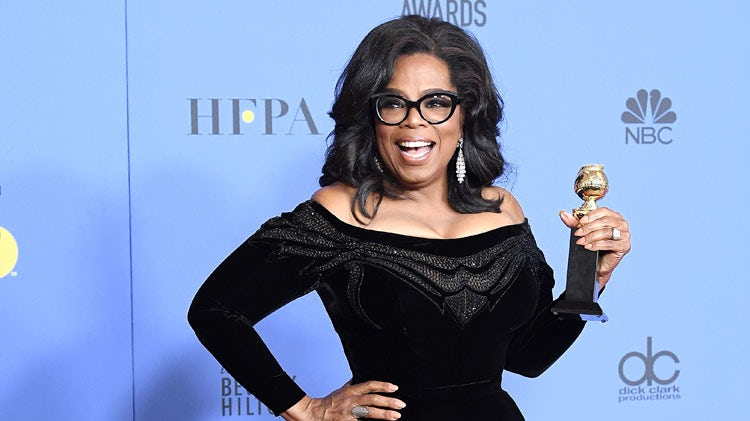 Oprah Winfrey. Golden Globe. Film Blogger. Film Lover.