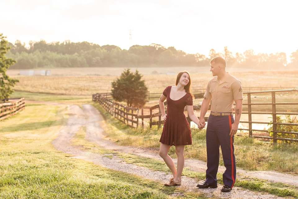 winston salem farm engagement photographer