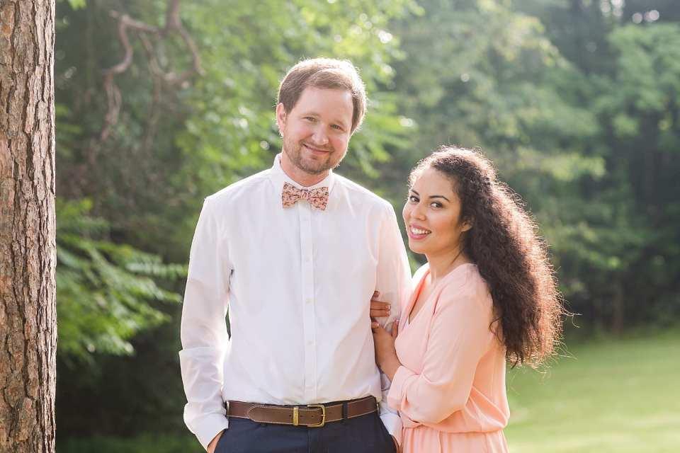 winston salem engaged couple