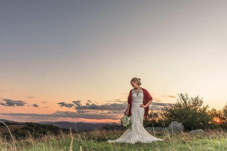 blue ridge parkway bride