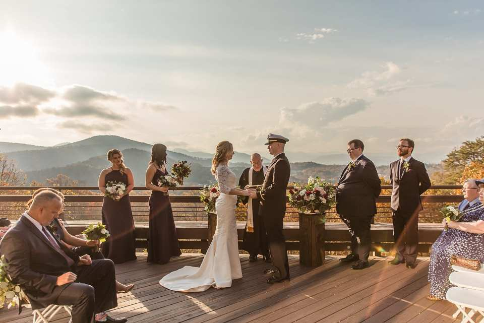 the crest center and pavilion wedding asheville