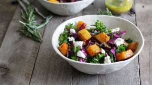 Kale and Roasted Butternut Squash Salad