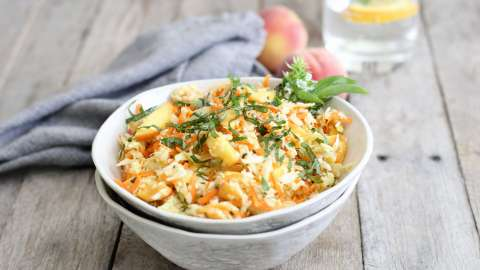 Cabbage, Fennel and Peach Slaw