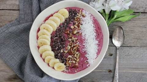 Mixed Berry Smoothie Bowl Dessert
