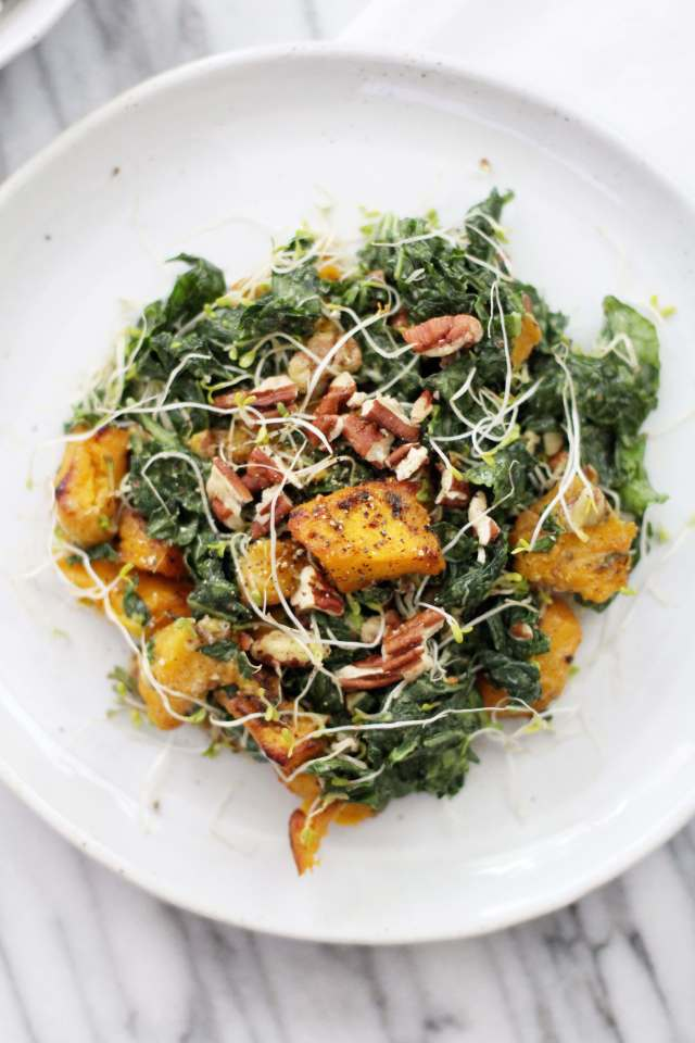 Massaged Kale and Roasted Pumpkin Salad: Jessi's Kitchen