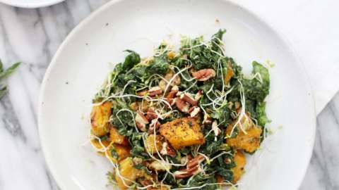 Massaged Kale and Pumpkin Salad