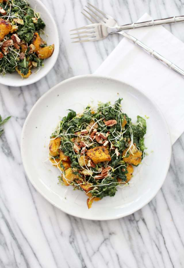 Massaged Kale and Pumpkin Salad: Jessi's Kitchen