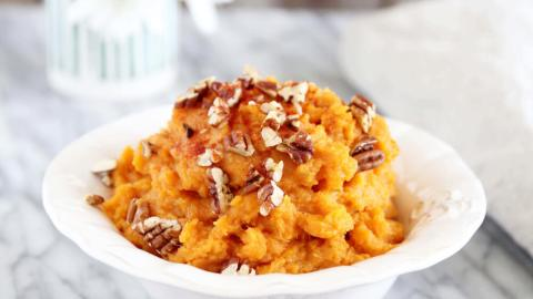 Smoky Mashed Sweet Potato with Pecans