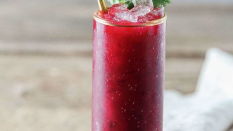 The Smoky Beet {Beet, Mezcal, Lime, Lemon, Ginger, Cilantro}